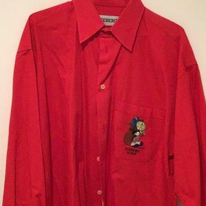 Red Iceberg Golf button down casual embroidered